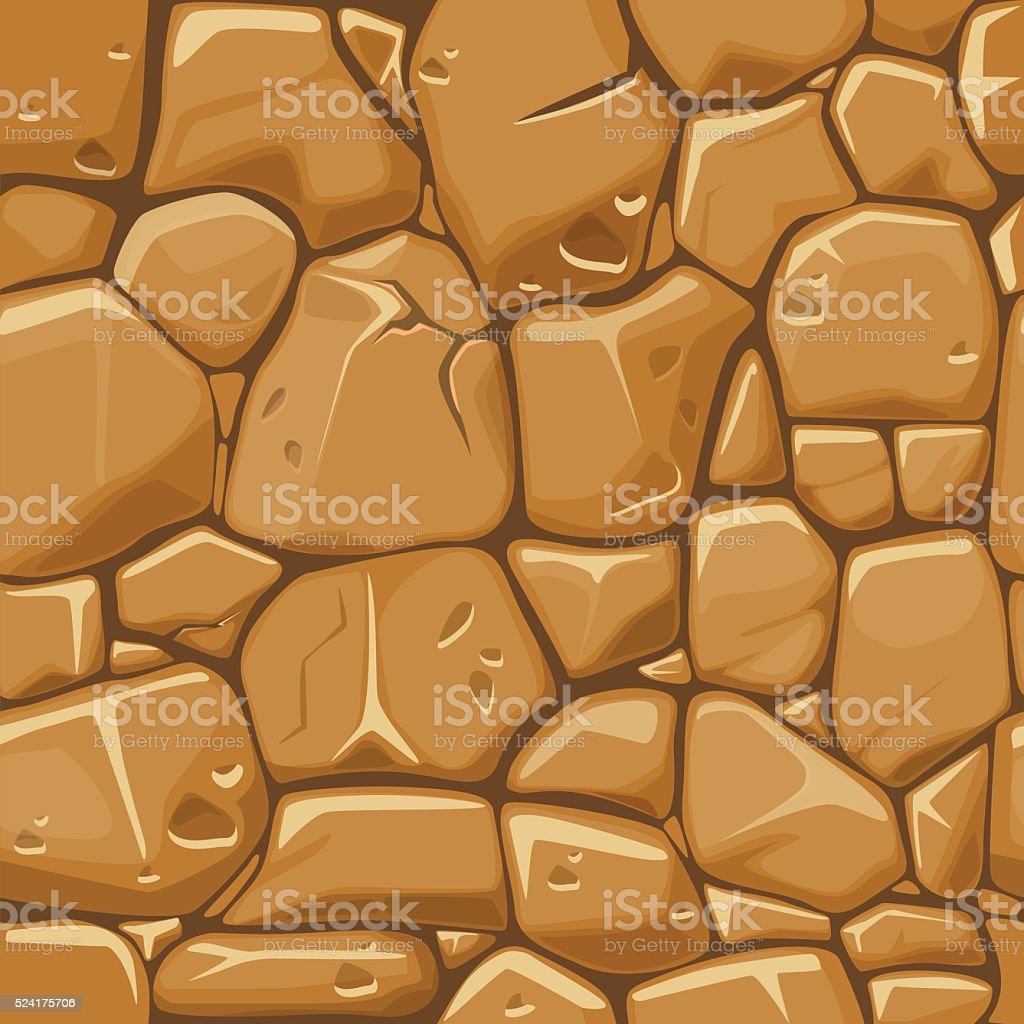 Stone texture in brown colors seamless background. vector art illustration