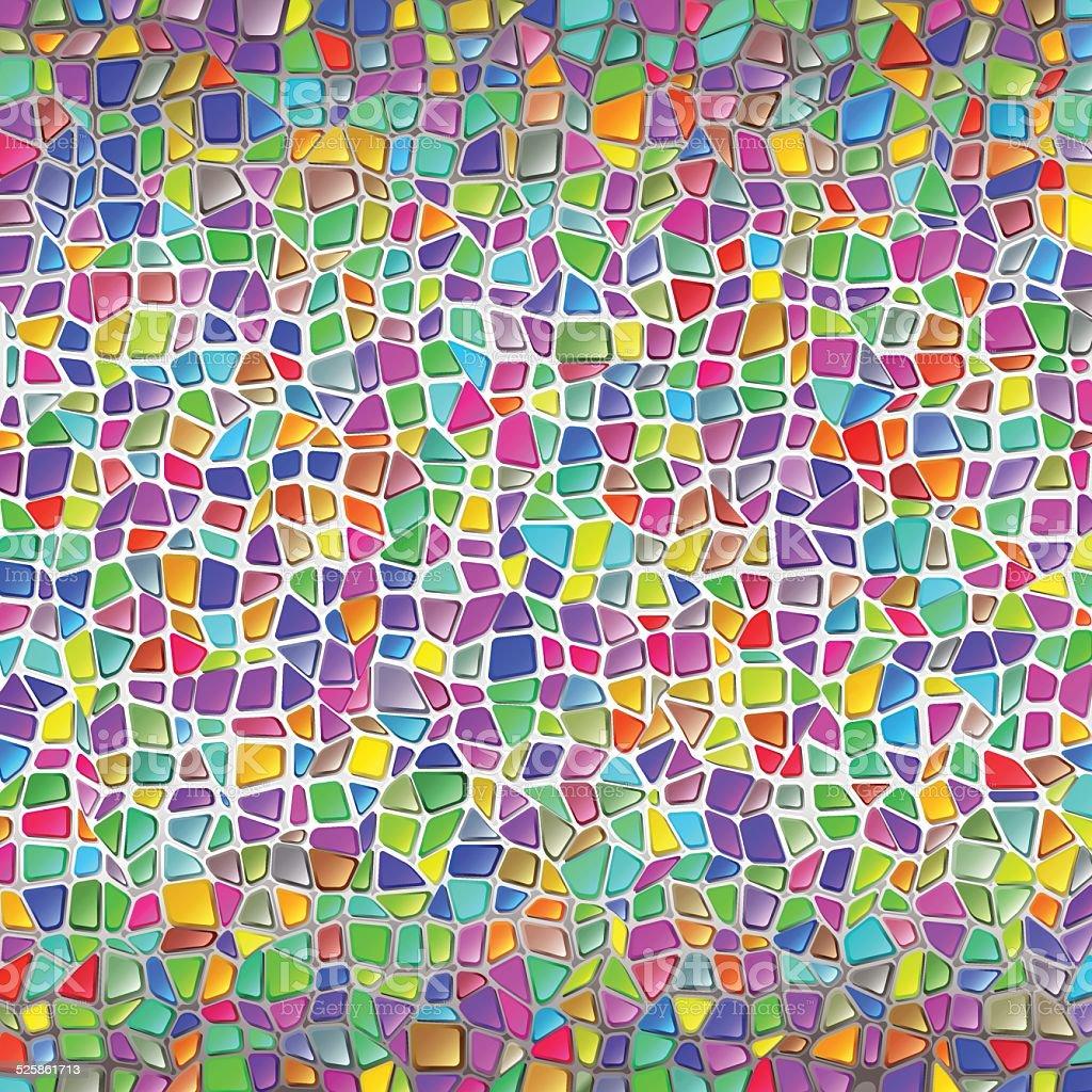 Pared de piedra de mosaico fondo estilo gaudí - ilustración de arte vectorial