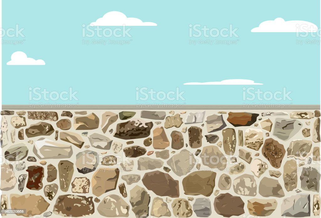 Stone Wall Rough - Royalty-free Architecture stock vector