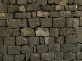 Stone wall texture gray dark color. Vector. As background, pattern, backdrop for web.