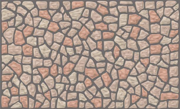 bildbanksillustrationer, clip art samt tecknat material och ikoner med stone wall vektor bakgrunder - befästningsmur