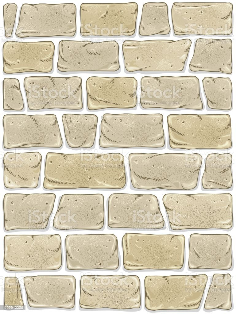 Stone Wall With Transparent Background Stock Illustration Download