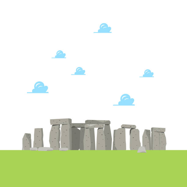 Stonehenge in flat style Stonehenge in flat style. Vector illustration rock formations stock illustrations