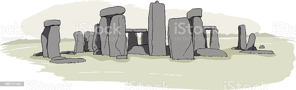 Stonehenge Sketch vector art illustration