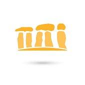 Stonehenge stones icon. Signs, symbols collection icon for websites, web design, mobile app