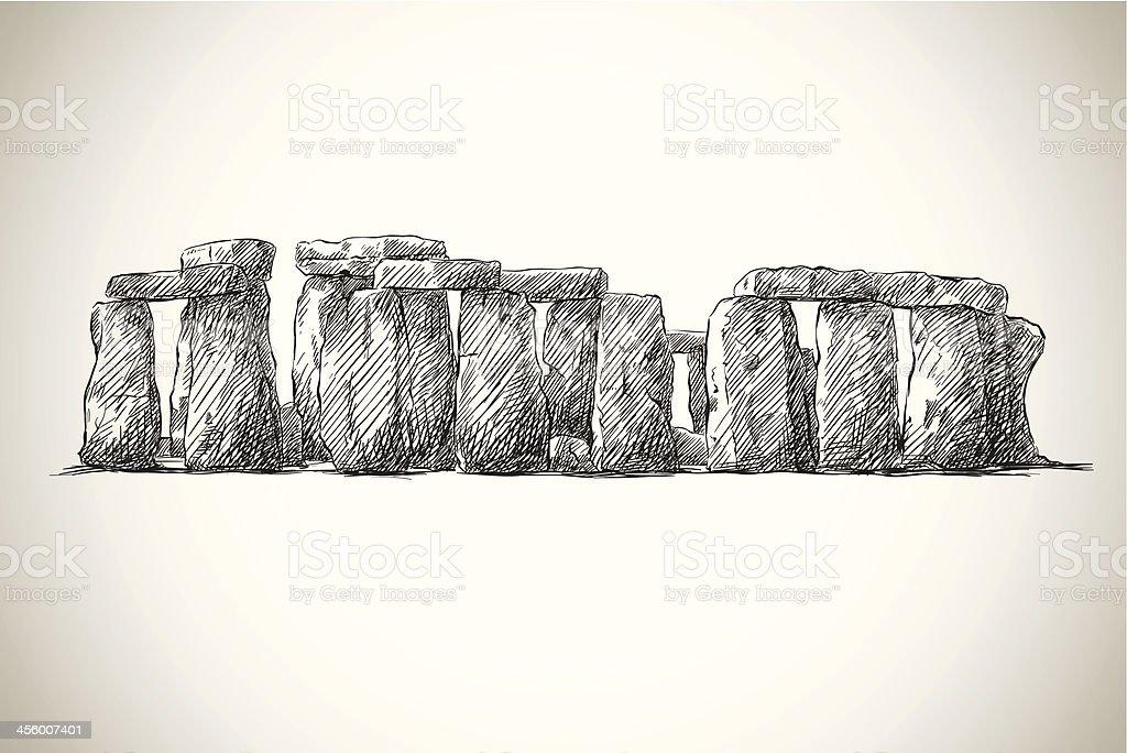 Stonehenge Vektor Drawing Uk Wahrzeichen Stock Vektor Art und mehr ...