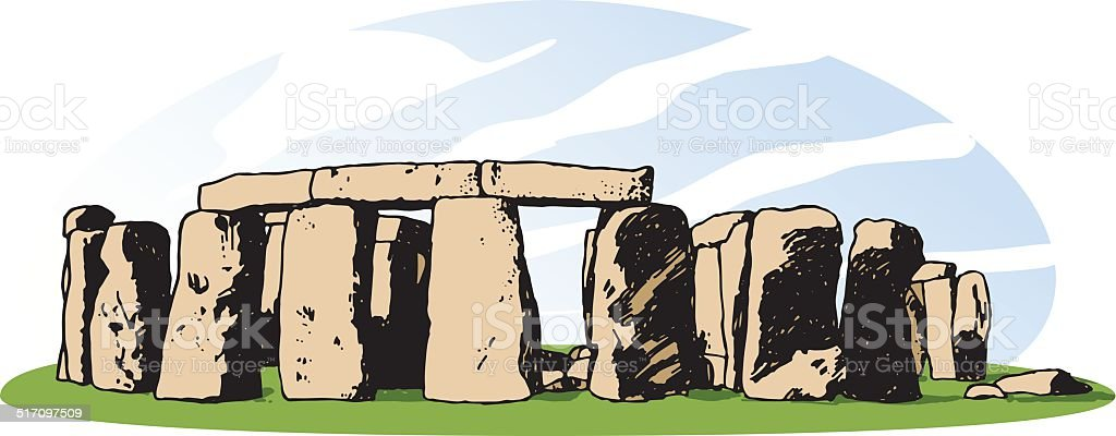 Stonehenge vector art illustration