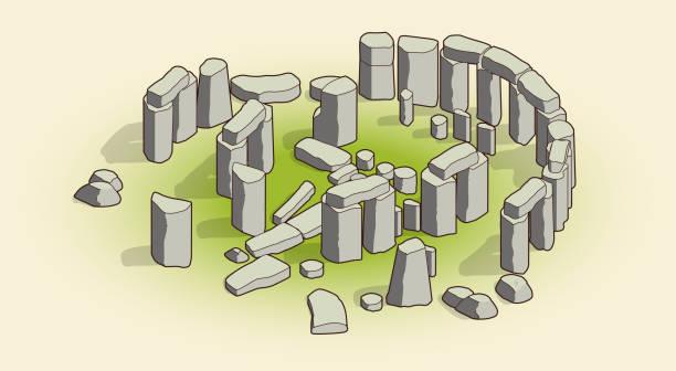 stonehenge - salisbury stock-grafiken, -clipart, -cartoons und -symbole