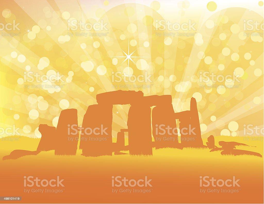 Stonehenge - Vector Illustration vector art illustration