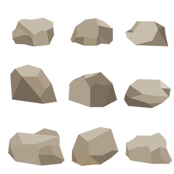 stones, a set of stones - skała stock illustrations