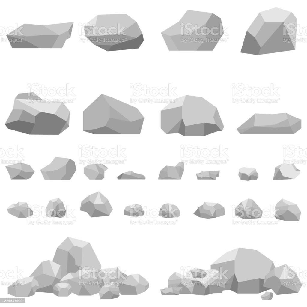Stones, large and small stones, a set of stones. royalty-free stones large and small stones a set of stones stock illustration - download image now
