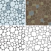 Vector set of seamless backgrounds with beige, gray, and  brown smooth pebble