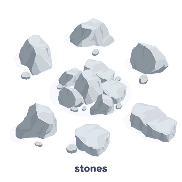 stones vector art illustration