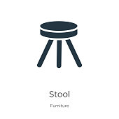 istock Stool icon vector. Trendy flat stool icon from furniture collection isolated on white background. Vector illustration can be used for web and mobile graphic design, logo, eps10 1192677650