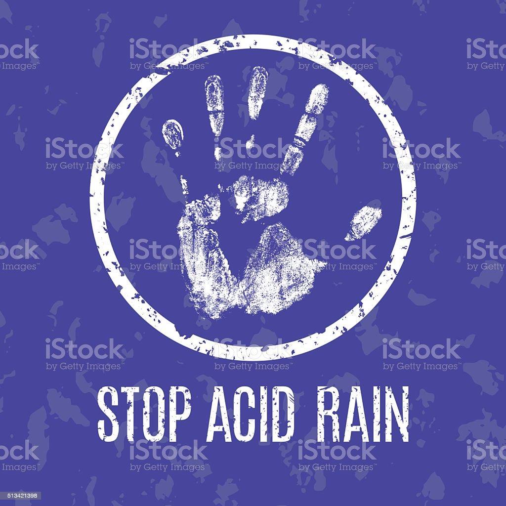 stop acid rain vector sinn vector art illustration