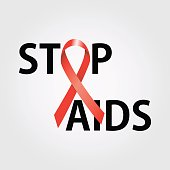 Stop AIDS symbol to 1 December Worl AIDS day