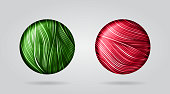 A set of glossy buttons. Red and green. EPS10 vector illustration, global colors, easy to modify.