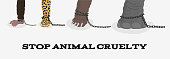 Stop animal cruelty with elephant bear leopard monkey in chains