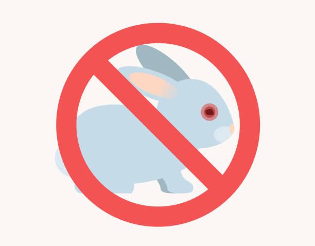 stop animal testing sign Flat Design stop animal testing sign Icon animal testing stock illustrations