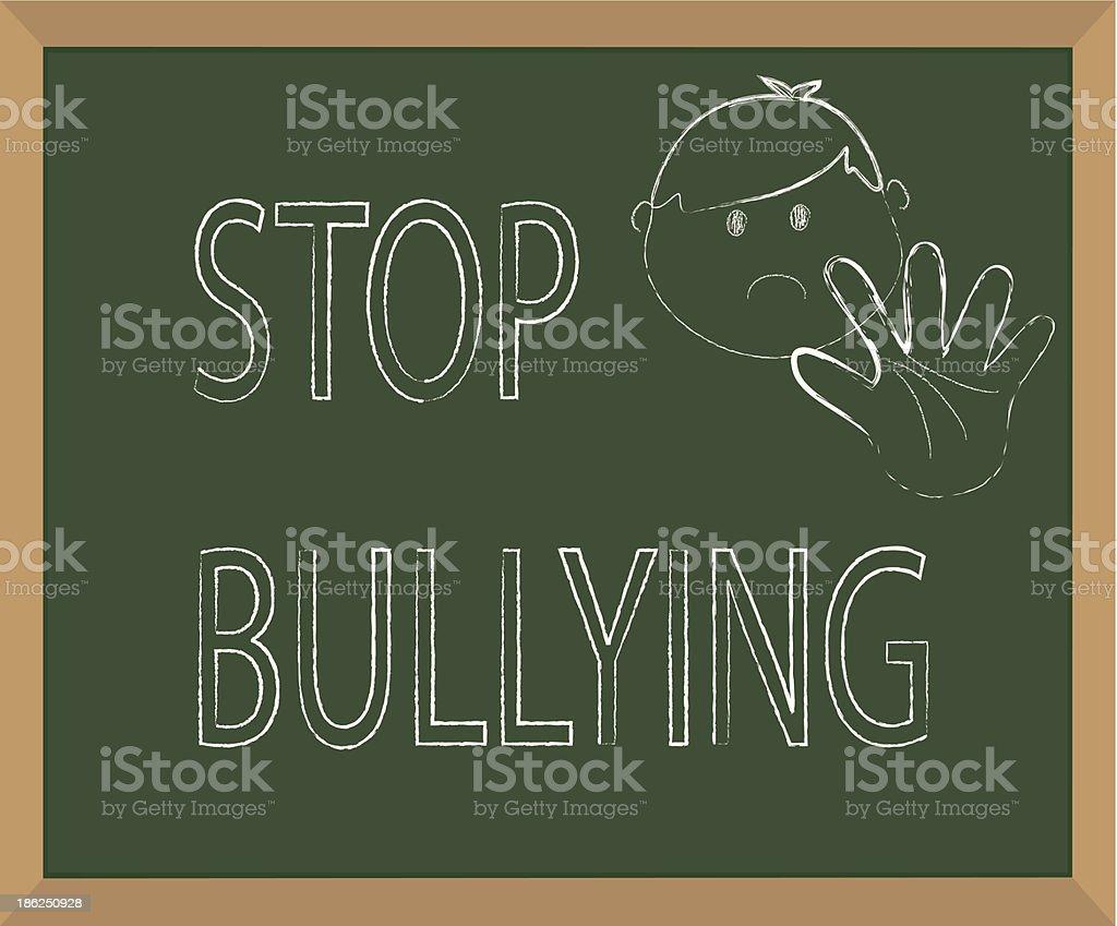 Stop Bullying royalty-free stock vector art
