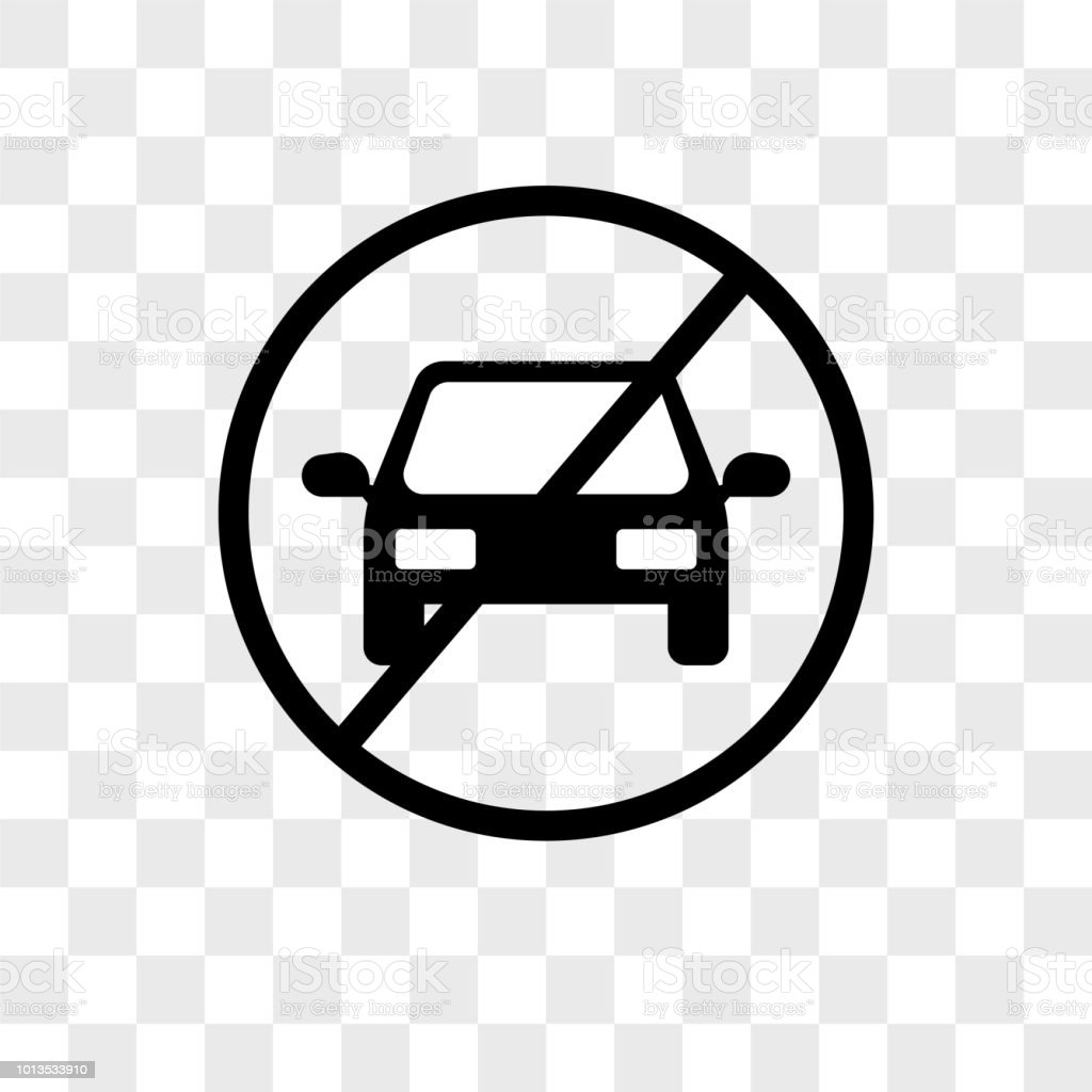 Stop Car vector icon on transparent background, Stop Car icon