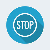 Stop concept - Vector web icon
