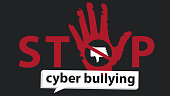 stop cyber bullying  banner vector graphic design for campaign