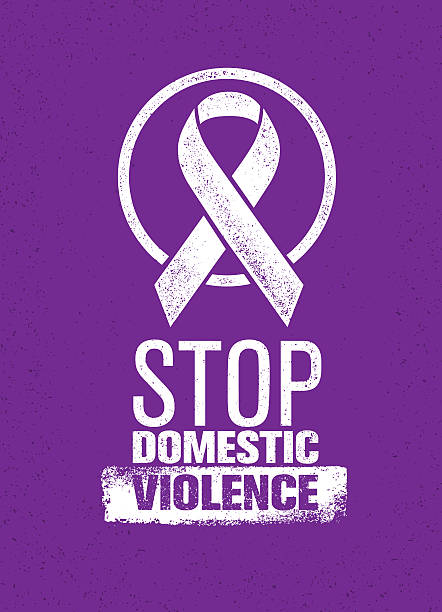 stop domestic violence - domestic violence stock illustrations