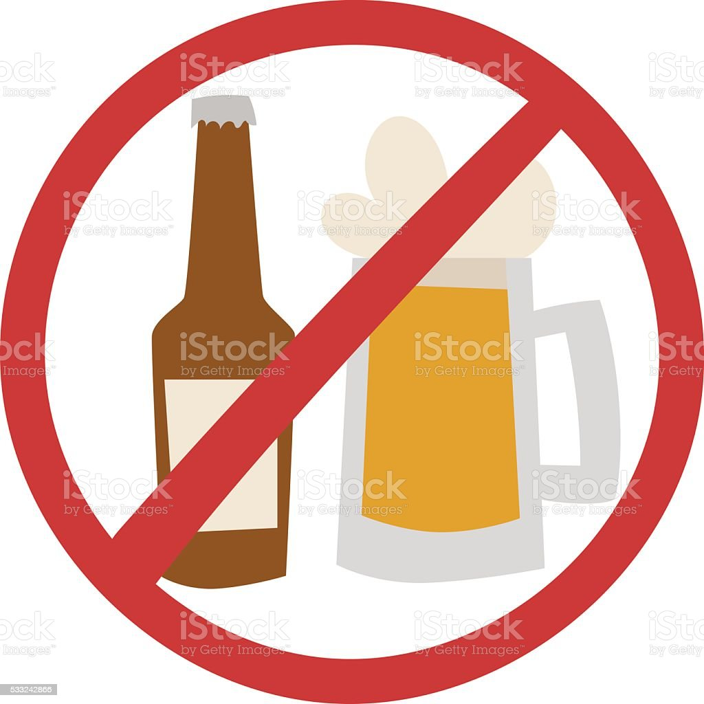 Stop drink vector illustration vector art illustration