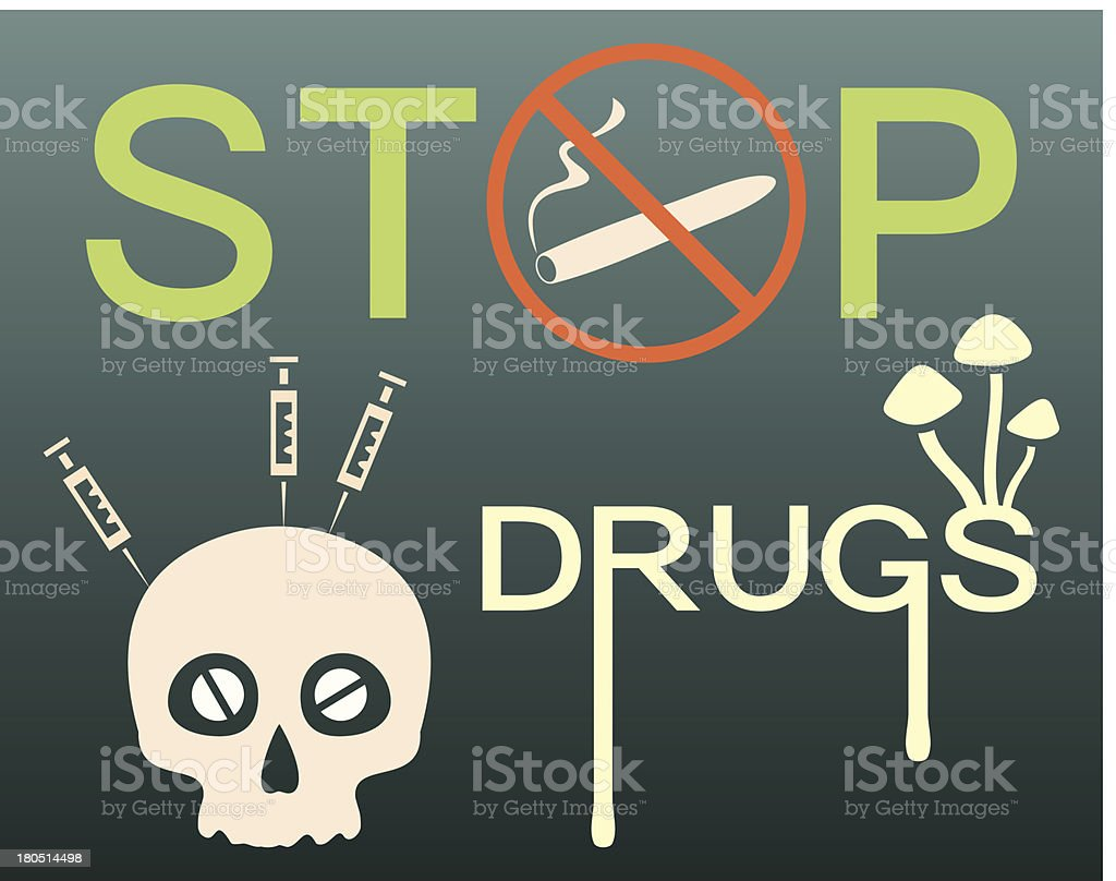 Stop drugs banner royalty-free stop drugs banner stock vector art & more images of addiction