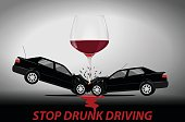 Stop drunk driving concept.
