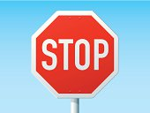 Stop German Road Sign