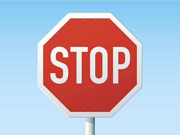stockillustraties, clipart, cartoons en iconen met stop german road sign - stopbord