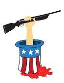 Stop Gun Violence Concept