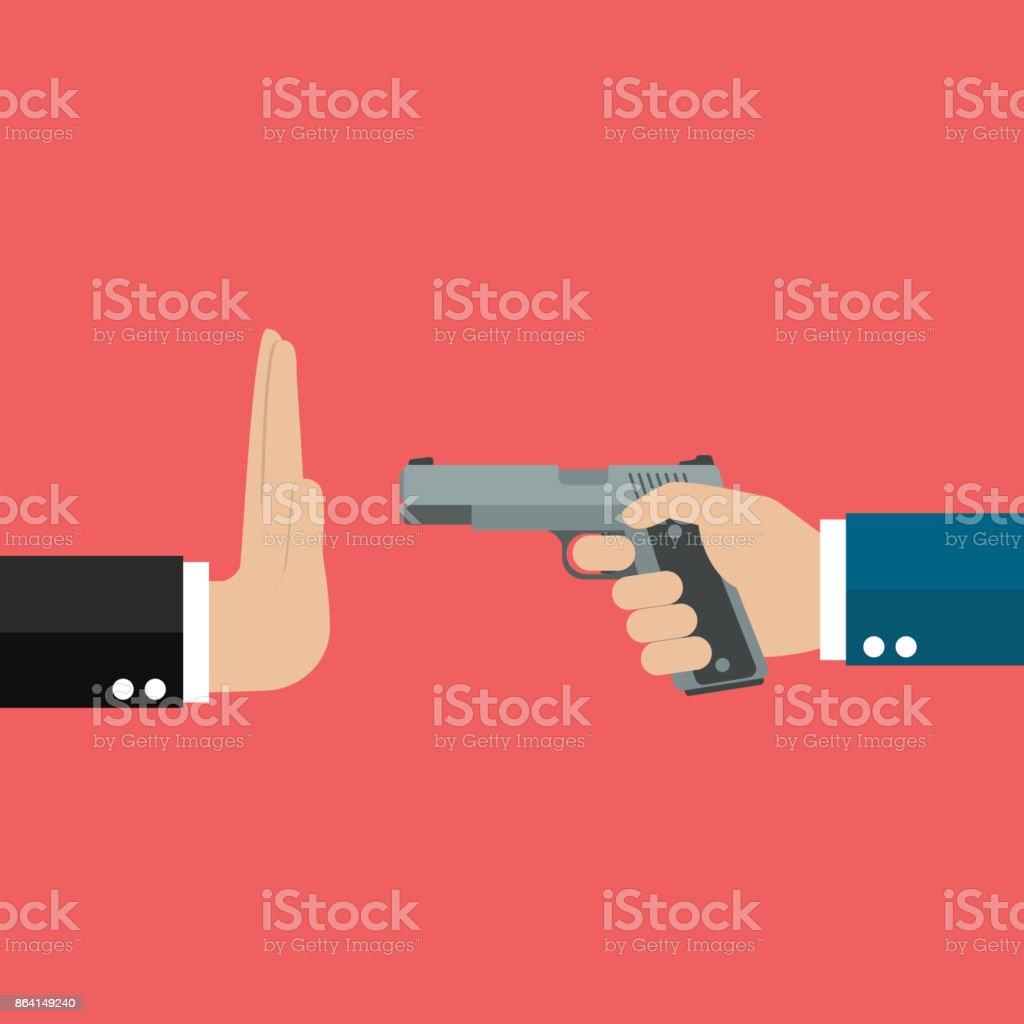 Stop gun violence royalty-free stop gun violence stock vector art & more images of aggression