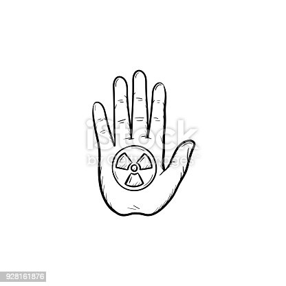 Stop Hand Sign Hand Drawn Sketch Icon Stock Vector Art More Images