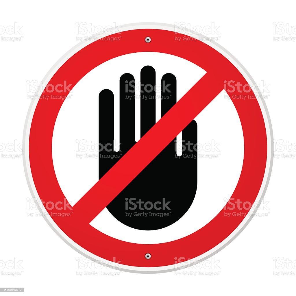 Stop Hand Symbol vector art illustration
