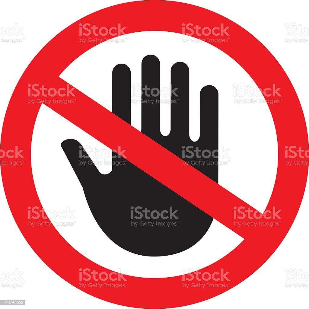 Stop Hand Symbol Stock Vector Art More Images Of Illustration