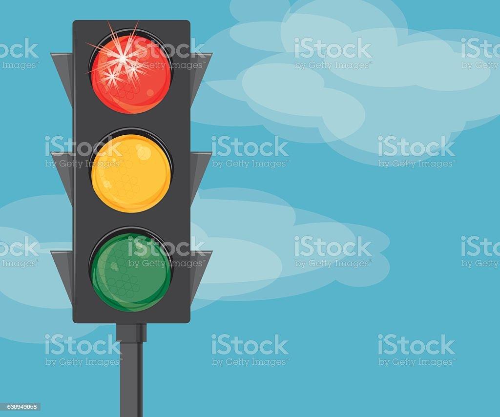 Stop Light vector art illustration