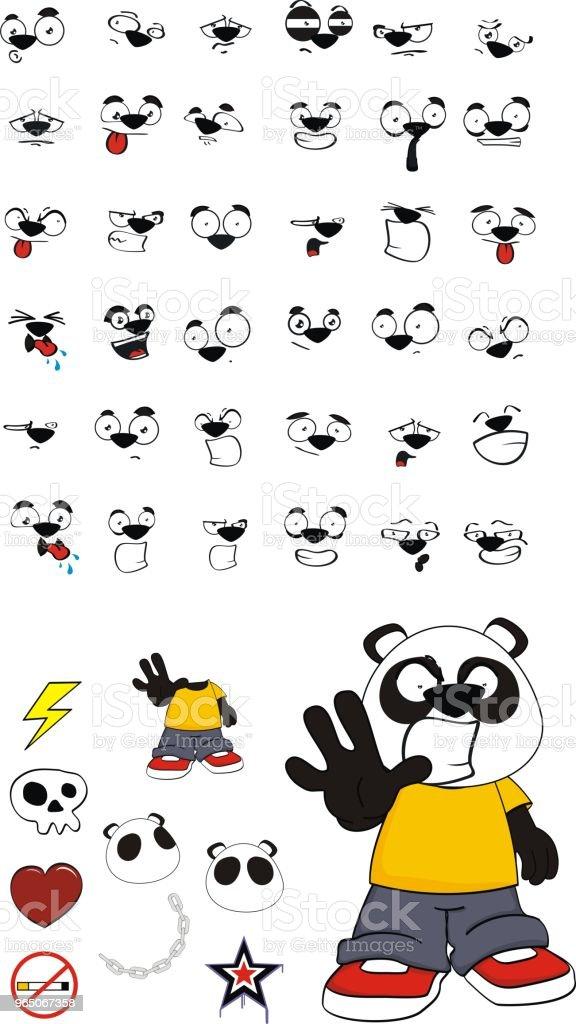 stop little panda bear kid expressions set stop little panda bear kid expressions set - stockowe grafiki wektorowe i więcej obrazów ameryka łacińska royalty-free