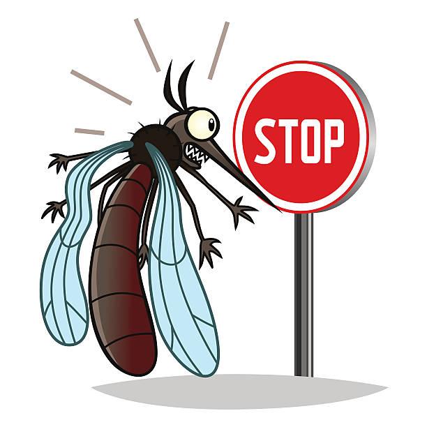 illustrazioni stock, clip art, cartoni animati e icone di tendenza di fermata mosquito - zanzare