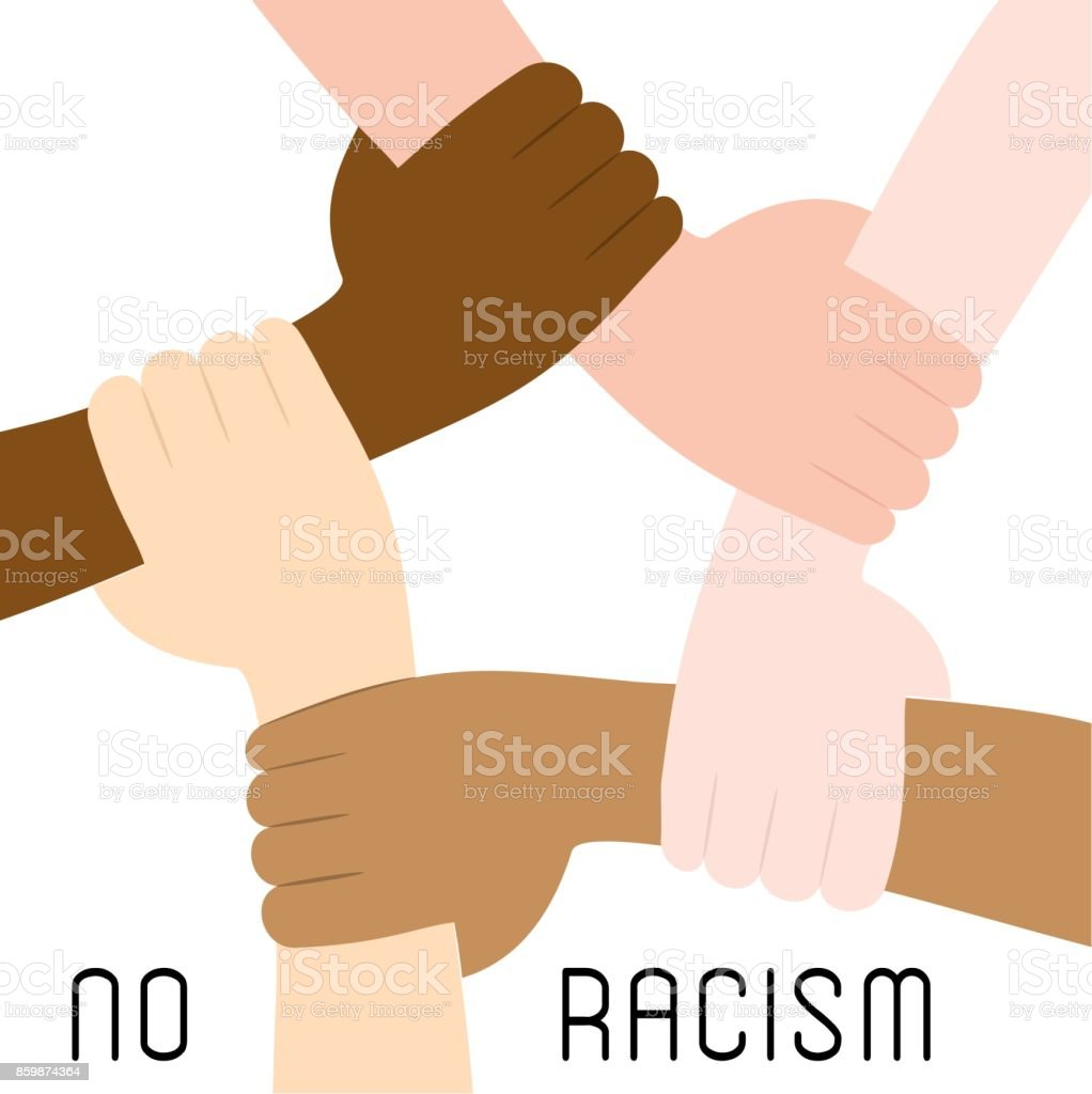 Stop racism icon vector art illustration