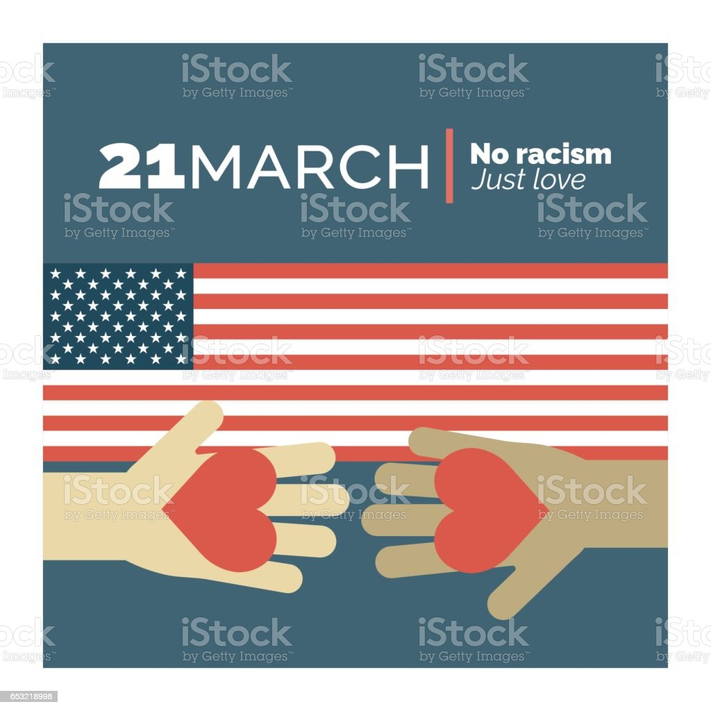 Stop Racism vector art illustration