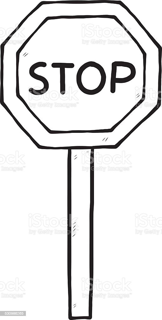 royalty free is a stop sign an octagon drawing clip art vector rh istockphoto com clip art stop sign with hand clip art stop sign free