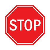 istock Stop Sign Flat Design. 1204438215