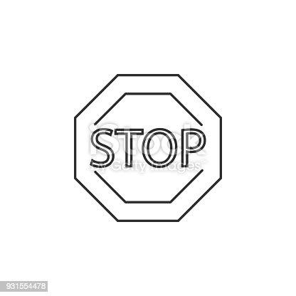 istock icono de señal de STOP. Elemento del navegador de señales ...