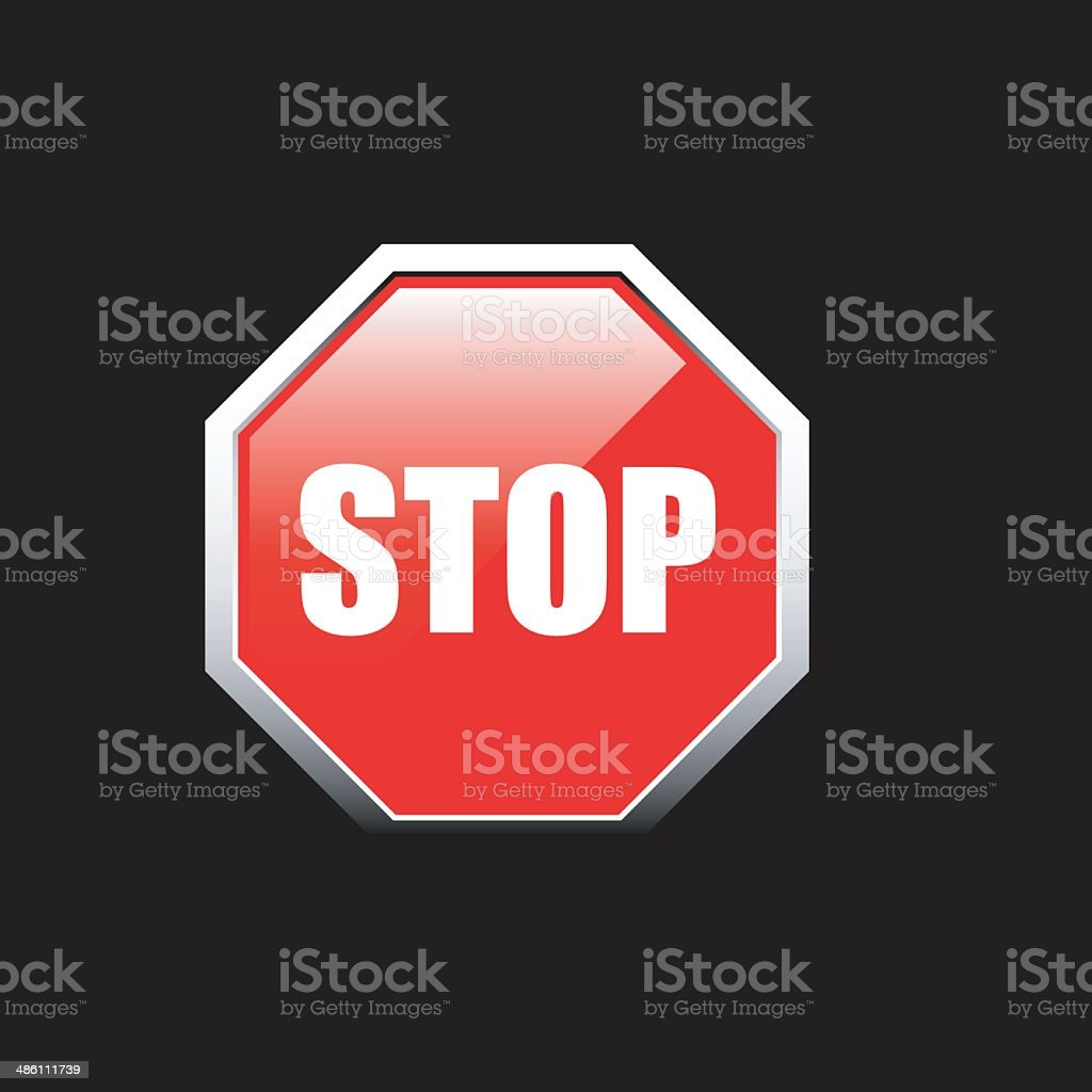 Stop sign royalty-free stop sign stock vector art & more images of danger