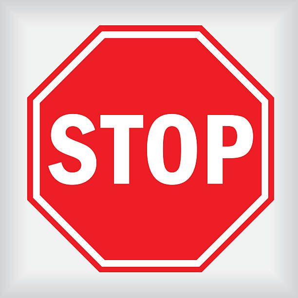 stockillustraties, clipart, cartoons en iconen met stop sign - stopbord