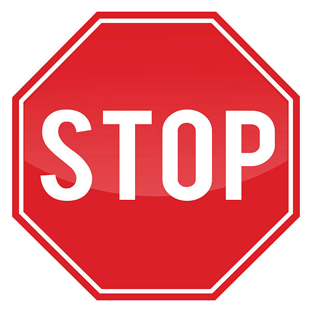 stockillustraties, clipart, cartoons en iconen met stop sign. - stopbord