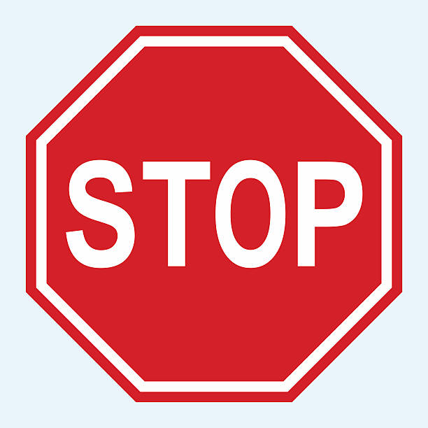 stockillustraties, clipart, cartoons en iconen met stop sign vector - stopbord